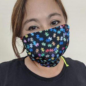 Autism Puzzle Pattern Face Covering Mask