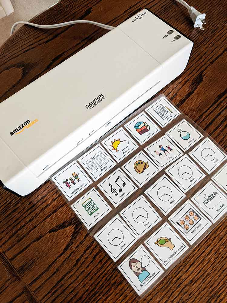 Amazon brand laminator for use with creating visual schedule